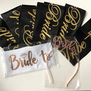 Bride tribe sashes & headband bundle